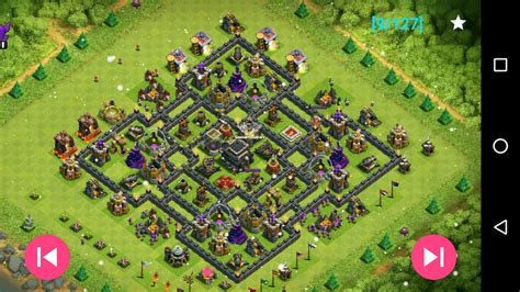 layout coc th9 maps of coc th9 android apps on google play