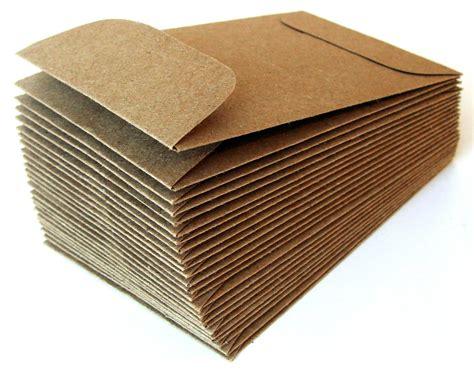 Paper Envelopes - 50 mini brown bag kraft paper envelopes 2 25 x 3 75