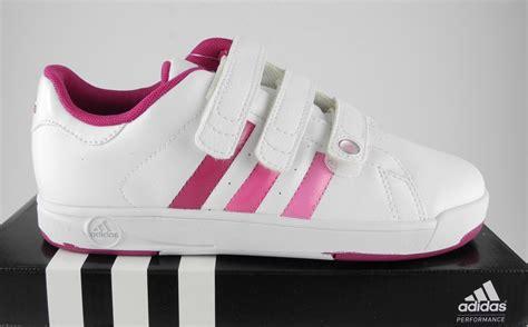 womens adidas ortholite bts class ii white pink velcro trainers