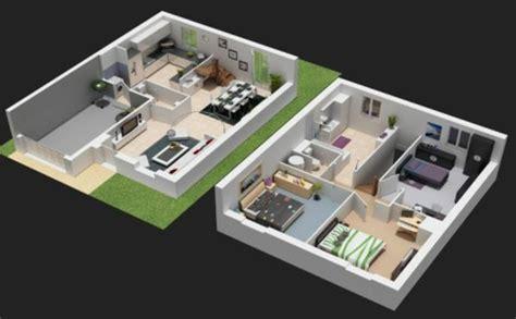 Plan De Maison Moderne 3d by Plan Maison 3d D Appartement 2 Pi 232 Ces En 60 Exemples