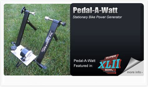the pedal a watt bicycle generator is a pedal power