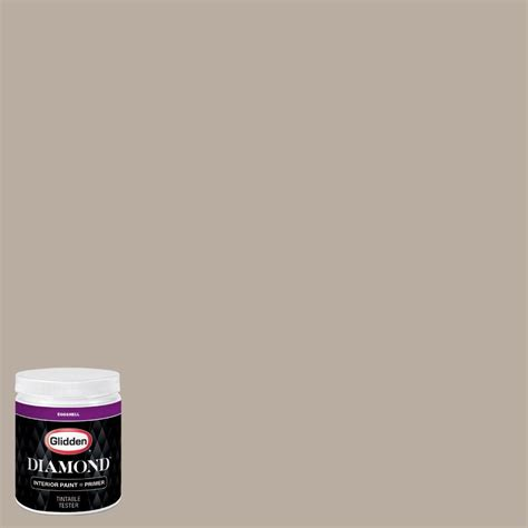 glidden 8 oz hdgwn37 scroll beige eggshell interior paint with primer tester hdgwn37d