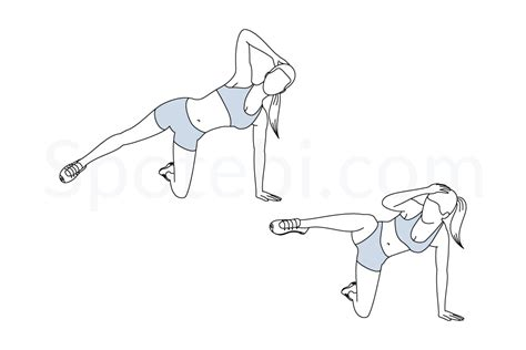 triangle crunch illustrated exercise guide