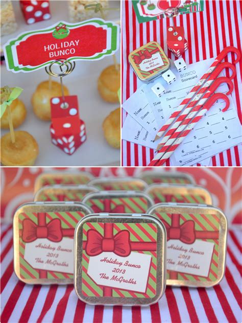 fun christmas holiday bunco party ideas party ideas