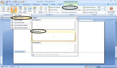 membuat halaman skripsi di word 2007 membuat nomor halaman otomatis untuk tugas akhir skripsi