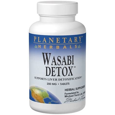 Detox Tablets by Wasabi Detox 200mg 60 Tablets Planetary Herbals Day Of