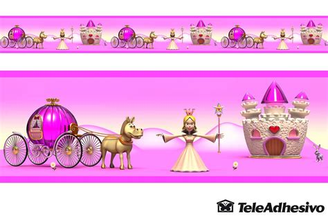 cenefas infantiles pared cenefa princesas