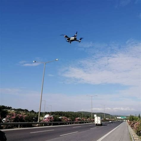 izmirde drone destekli motosiklet denetimi
