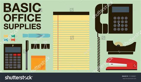 basic office supplies stock vector illustratie 151280801
