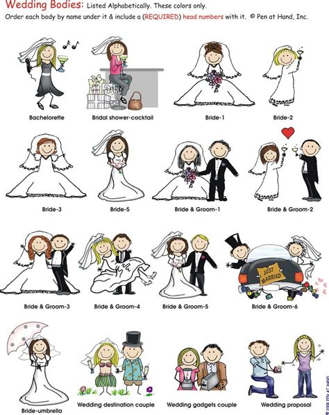 Wedding Stick Figures by Wedding Bodies Pen At Stick Figure Products By
