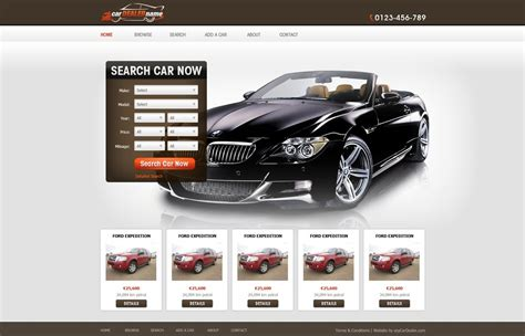 free car template car dealer website template free car dealer web