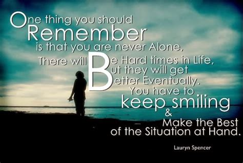 quotes  smiling   hard times quotesgram