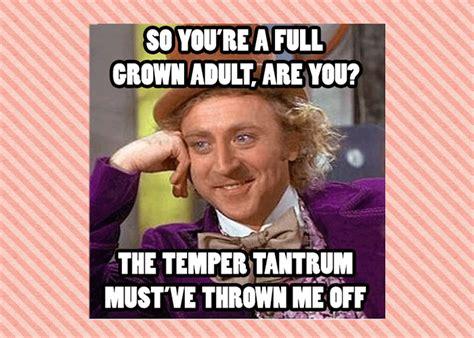 Tantrum Meme - a proper temper tantrum out from under the umbrella