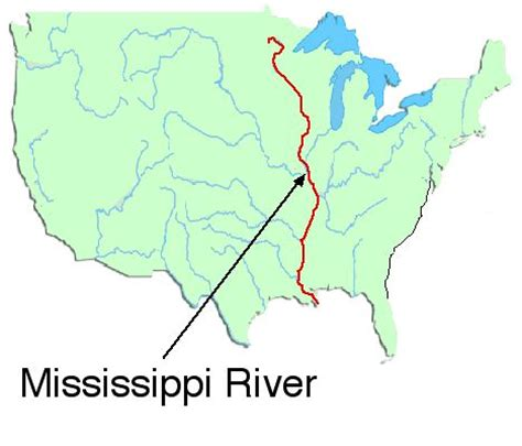 us map showing states and mississippi river where is the mississippi river map