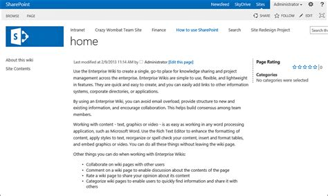 sharepoint 2013 wiki sites 4sysops gt gt 19 nice sharepoint