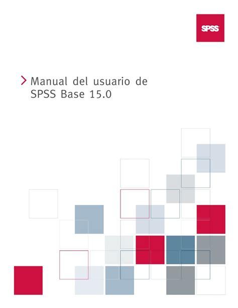 Manual De Spss | manual de spss v 15