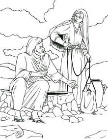 coloring page jesus and the samaritan woman images