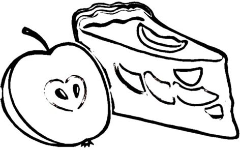 apple slices coloring page apple pie coloring pages