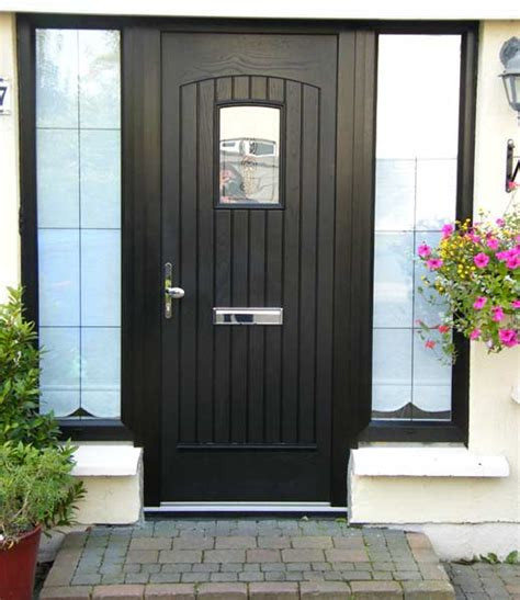 Black Composite Front Door Certified A Doors Systems Affordable Quality Doors