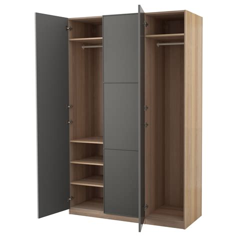 Armoire Pax by Pax Wardrobe White Stained Oak Effect Mer 229 Ker Grey