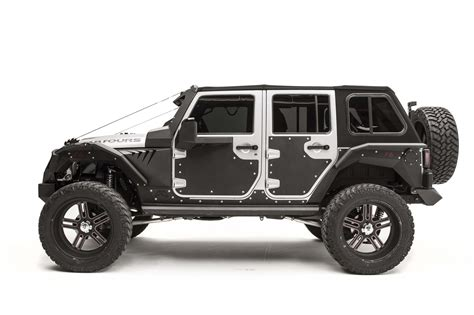 jeep armor fab fours door skin armor for 07 18 jeep wrangler jk
