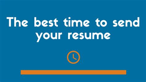 best time to send resume resume ideas