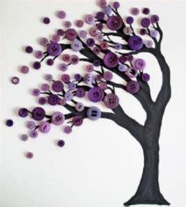 diy button art tree fun crafts kids