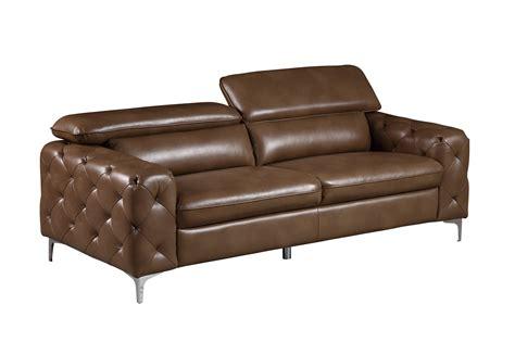 global sofa u8050 walnut leather gel sofa by global furniture