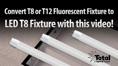 Convert Fluorescent Light Fixture To Incandescent How To Change Your T12 Or T8 Fluorescent Fixture To Retrofit Led T8 Lighting By Total Bulk