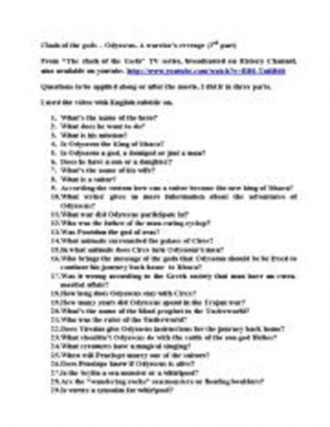 The Odyssey Worksheet Answers by Odyssey Worksheets Photos Toribeedesign