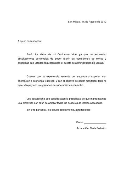 carta formal de presentacion carta de presentacion c