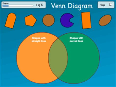 venn diagrams shapes division maths for year 2 age