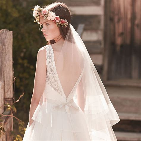 Handmade Veils - handmade fingertip length boho wedding veil two tier tulle