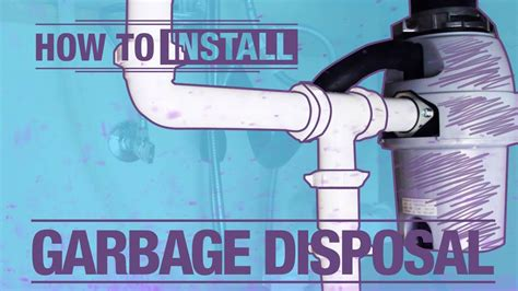 how to install a garbage disposal in a double sink how to install a garbage disposal youtube