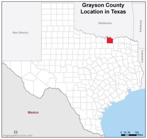 map of grayson county texas free and open source location map of grayson county texas mapsopensource