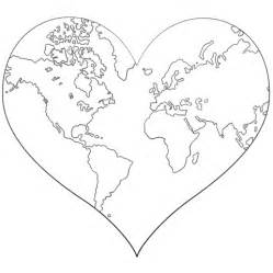 heart earth coloring pages heart shaped earth coloring page free printable coloring