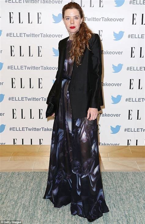 bianca spender the black carpet style at the marie elle macpherson leads the fashion in black and white dress