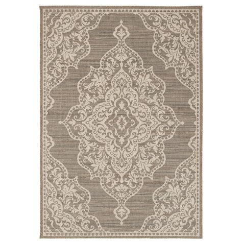 home decorators collection cecil taupe 5 ft 10 in x 9 ft