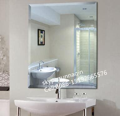 Cermin Tanpa Bingkai miring berlian tepi dinding kamar mandi tanpa bingkai kaca
