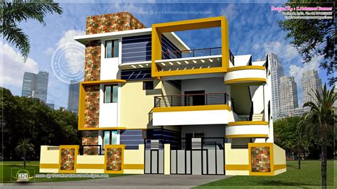 three floor house design india modern 3 floor tamilnadu house design kerala home and loversiq