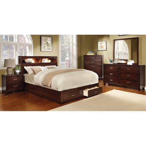 king louis bedroom furniture furniture of america louis 4 piece california king bedroom