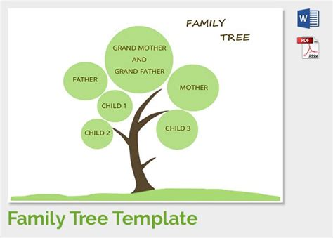 25 unique family tree template word ideas on pinterest
