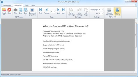 convert pdf to word windows xp freemoresoft freemore pdf to word converter convert