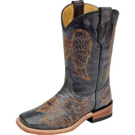 Original Blackmaster Low Boots Wings Black corral black multicolor wing cross boots