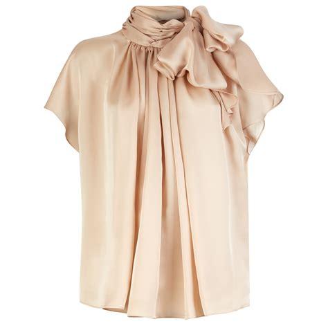 blouse list v trouva amanda thompson couture silk bow blouse