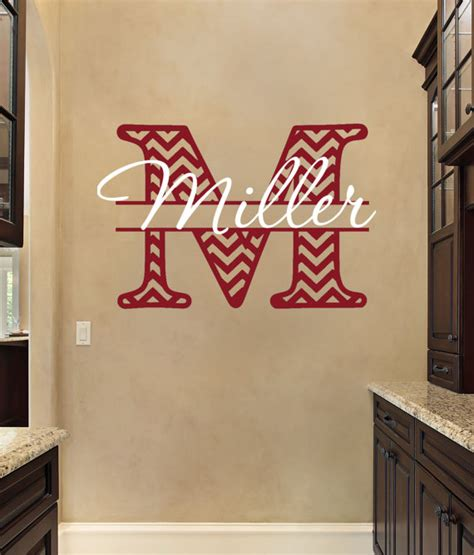 monogrammed wall stickers monogram wall decals personalized monogram wall decal