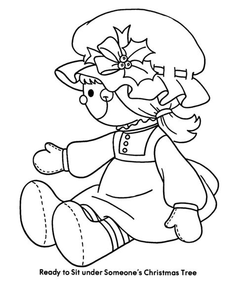 rag doll coloring page image detail for bible printables christmas kids