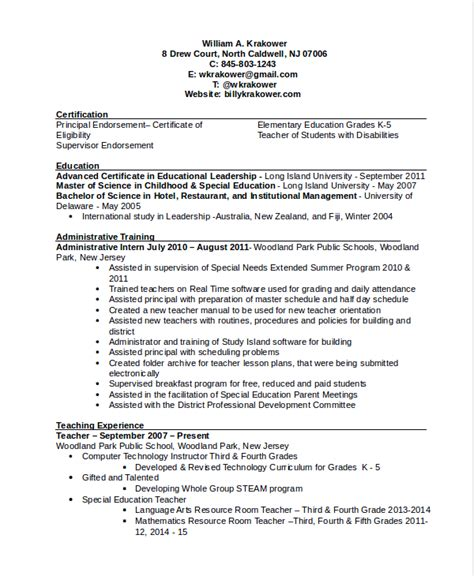 principal middle school resume principal middle school resume sample