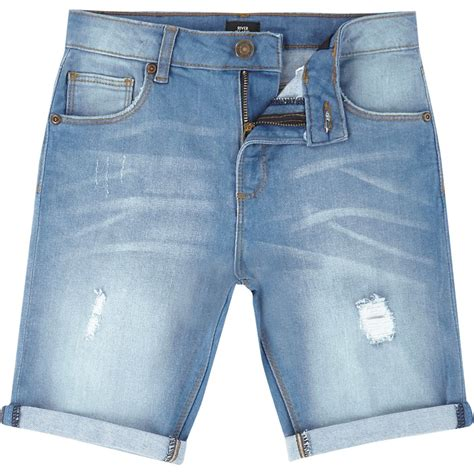 light blue shorts boys light blue distressed denim shorts denim shorts