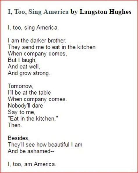 I Sing America Analysis Essay by Langston Hughes I Sing America Essay Writingfixya Web Fc2